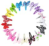 Hipgirl 17pcs 2 Inch Snap Hair Clips Pinwheel Bow--Boutique No Slip Grip Metal Barrettes for Girls Teens Toddlers Babies Children Kids Women Adults Beauty Accessories Assorted Color