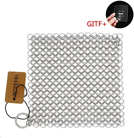 Cleaner Stainless Chainmail Scrubber Pre Seasoned product image