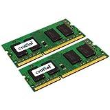 Crucial 8GB Kit (4GBx2) DDR3/DDR3L 1600 MT/S (PC3-12800) Unbuffered SODIMM 204-Pin Memory - CT2KIT51264BF160B
