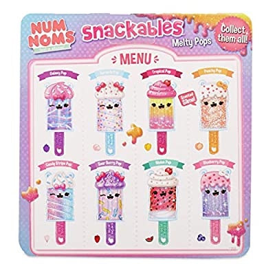 Num Noms Snackables Melty Pops Galaxy Pop Scented Melting Slime, Multicolor: Toys & Games