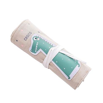 Leisial Lindo Roll-up Estuches de Lápices Enrollable Bolsa ...