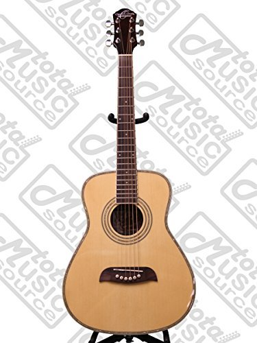 Left Hand Oscar Schmidt 1/2 Size Acoustic Guitar, Natural, L