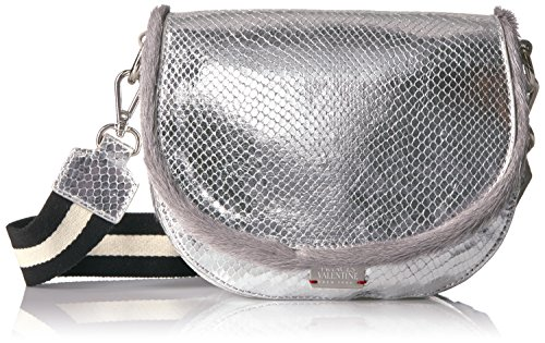 Silver Grey Leather Mini Frances Ellen Valentine Leather nOxqwFTf1U