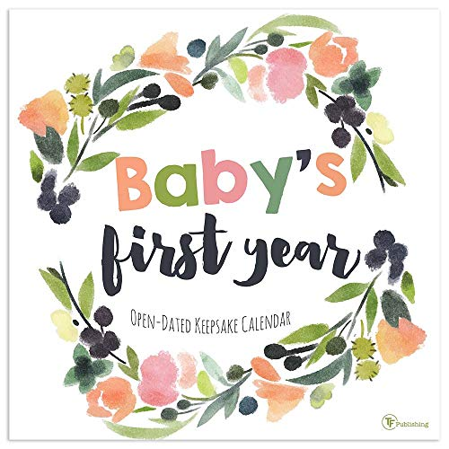 (Baby's First Year Undated Floral Memory Wall Calendar)