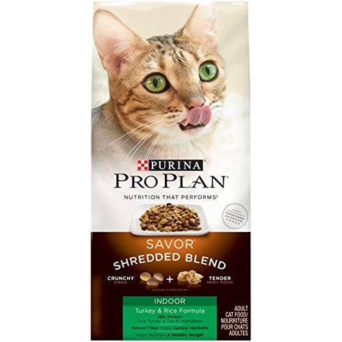 (Purina Pro Plan Hairball, Indoor Dry Cat Food; SAVOR Shredded Blend Indoor Turkey & Rice Formula - 12 lb.)
