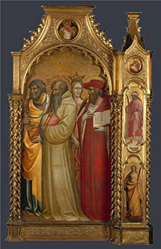 The High Quality Polyster Canvas Of Oil Painting 'Giovanni Dal Ponte-Saints Peter, Romuald, Catherine And Jerome,about 1420-4' ,size: 8x12 Inch / 20x31 Cm ,this Best Price Art Decorative Canvas Prints (Halloween 4 Blu Ray Best Buy)