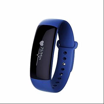 Reloj inteligente multifonctionnelle Avez seguimiento de ritmo cardiaco Tensiómetro Tracker Monitor Sueño cámara Alertes SNS para Whatsapp y Facebook para ...