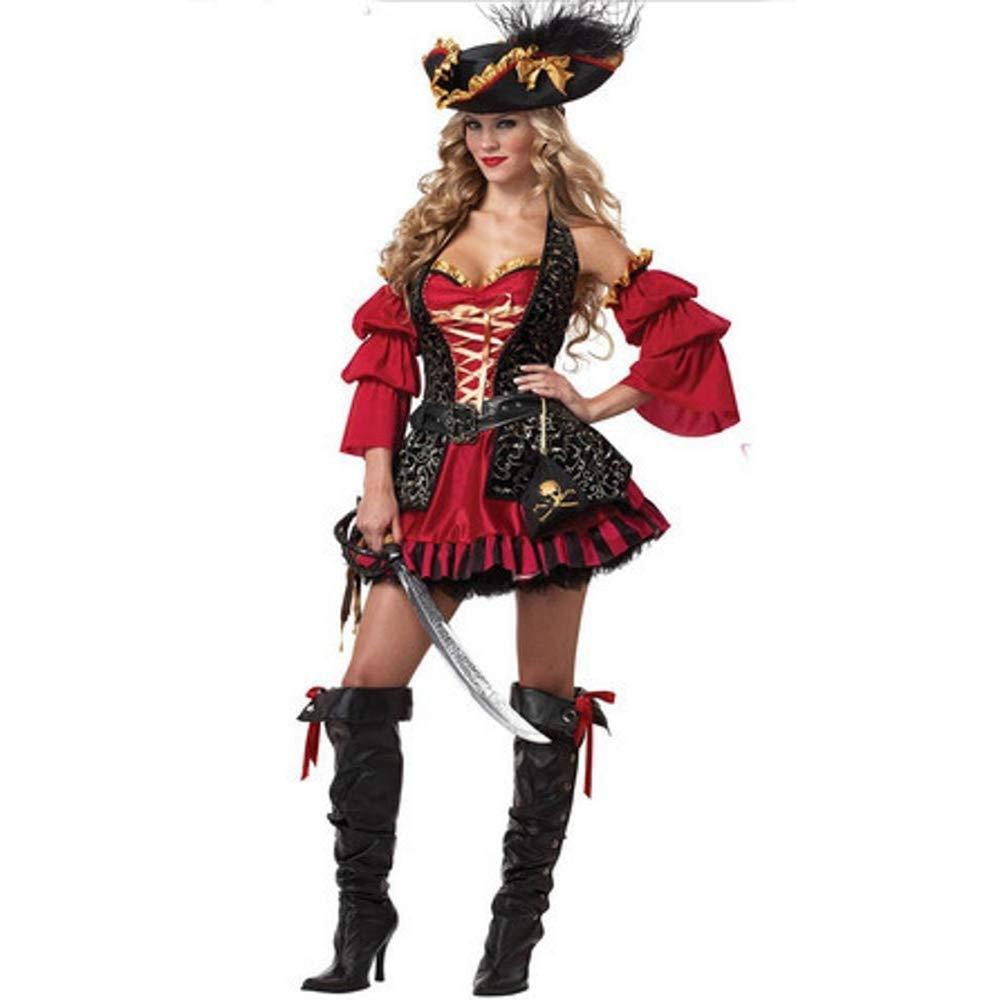 Yunfeng Hexenkostüm Damen Hexenkostüm Damen Halloween Kostüm PIRATENKOSTÜM Rollenspiel Königin Outfit Uniform Party Kostüm