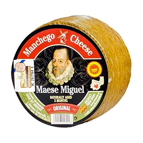 MANCHEGO MAESE MIGUEL D.O.P Mini Wheel - Approximately One Pound by Quesera Cuquerella (Image #1)