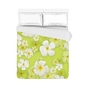 Customize Duvet Cover 100% cotton, Brushed Fabric Green Flowers 86