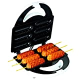 Pancake Corn Dog Maker Machine, Original Commercial Corn Dog Waffle Clip Maker & E-Book