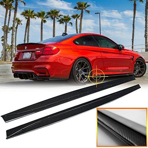 x xotic tech M Performance Carbon Fiber Sport Side Skirt Extensions Lip for BMW M4 F82 2015+