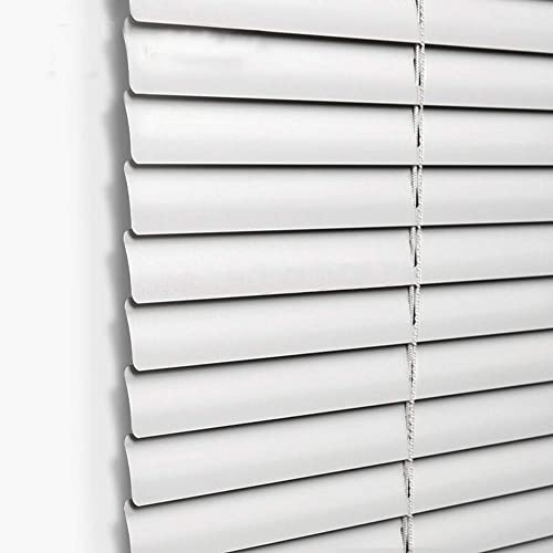 Taiyuhomes Aluminum Horizontal Window Mini Blinds Blackout Roll up Shades 1 inch Slats with Easy Inside and Outside Mount,43 1 2×64 inch,White