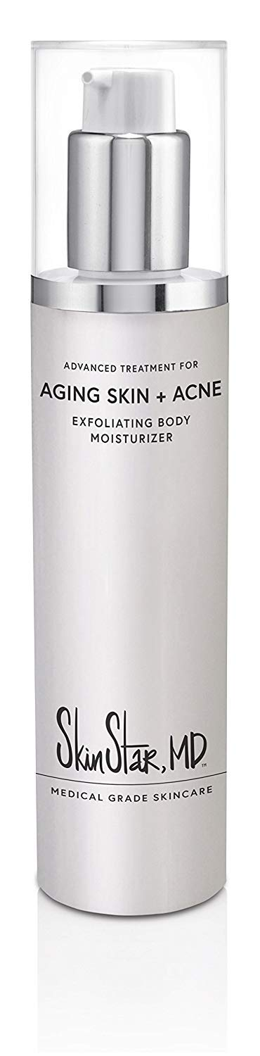 Exfoliating Body Moisturizer, Medical Grade KP & Eczema Cream, and Anti Aging Lotion for Dry or Bumpy Skin, Body Acne, Folliculitis and Ingrown Hairs, 7 Ounces