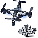 Jellydog Toy RC Drone, RC Quadcopter Watch With Camera, Foldable Mini Remote Contol Drone, WIFI FPV 720P HD Camera 2.4GHz 6-Axis One Key Return RC Drones for Kids and Adults
