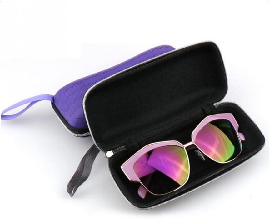 LAMEIDA Estuche para Gafas con Cremallera Resistente Funda de Gafas R/ígidas Impermeable para Gafas de Sol con Cremallera Almacenaje Lente Suave Sunglasses Case-P/úrpura Azul Negro Rosa