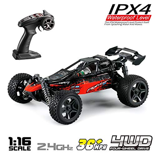 (Hosim 1:16 Scale 4WD Remote Control RC Truck G171, High Speed Racing Vehicle 36km/h Radio Controlled Off-Road 2.4Ghz RC Car Electronic Monster Hobby Truck R/C RTR Car Buggy for Kids Adults Birthday)