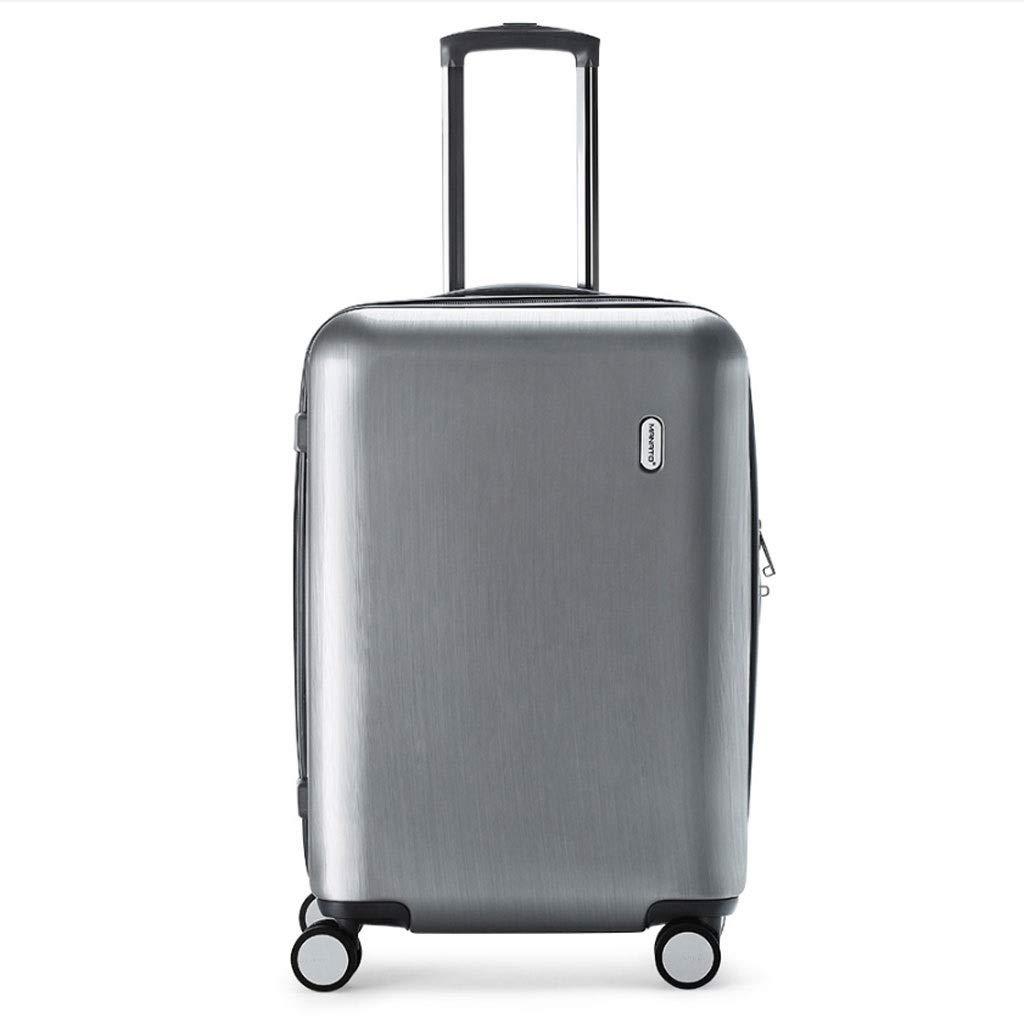 FRF トロリーケース- 傷防止PCの銀製のトロリー箱、普遍的な車輪の搭乗スーツケース、人および女性のための24インチ (色 : シルバー しるば゜, サイズ さいず : 24in) B07QL3XX1L シルバー しるば゜ 24in