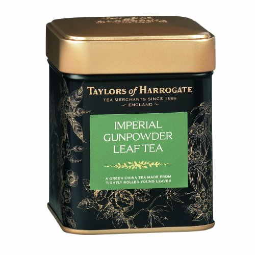 Taylors of Harrogate Imperial Gunpowder Green Tea Loose Leaf, 4.41 Ounce Tin (Pack of 2) (Gunpowder Imperial)