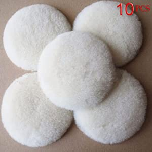 CMB 3 Inch Wool Buffing Pad, Woolen Buffer Pads Car Detailing Polishing Backing Buffer 3'' (10PCS )