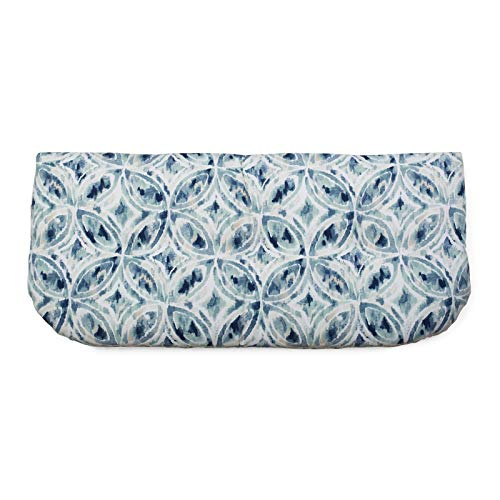 Blue Medallion 42 x 19 Outdoor Tufted Cushion for Outdoor Bench Swing Settee Seasonal - Medallion Collection 42