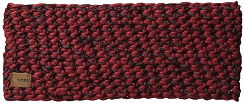 Coal Women's The Peters Crochet Headband, Brick Red, One Size