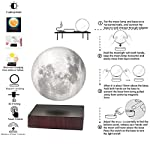 VGAzer Levitating Moon Lamp High Quality 3D Printing Magnetic Moon Light Lamps for Home, Office Decor, Creative Gift-6 Inch, Has 3 Colors Modes(YE,WH,Change from WH to YE)