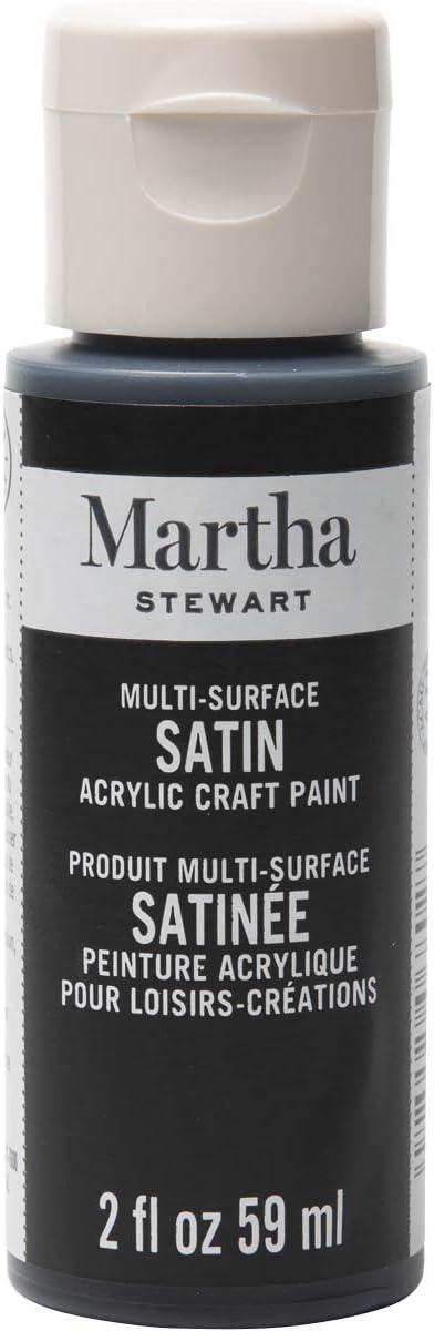 Martha Stewart Crafts Multi-Surface Satin Acrylic Beetle Black, 2 oz Paint