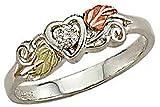 Landstroms Black Hills Silver Diamond Heart Ring - LR3026XSS