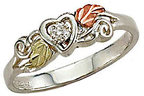 - Landstroms Black Hills Silver Diamond Heart Ring - MRLLR3026X