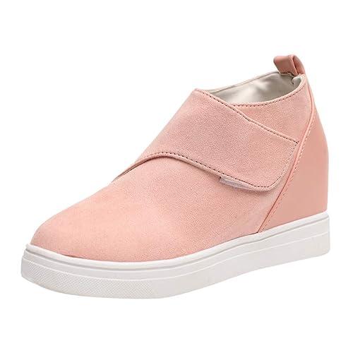 Zapatillas Moda Mocasines Slip-On Mujer Damas Moda Casual Solid Punta Redonda Incremento Zapatos De CuñA Botas Cortas: Amazon.es: Zapatos y complementos