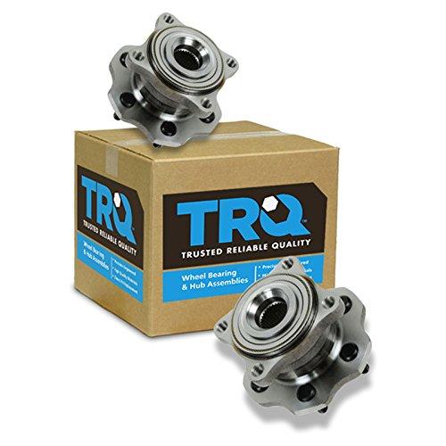TRQ Wheel Bearing & Hub Assembly Rear Pair Set for 05-12 Nissan Pathfinder