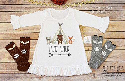 Second Birthday Dress, Toddler Dress, Two Wild, Baby Girl Dress, Baby Girl Clothes, Fox Dress, Toddler Dress