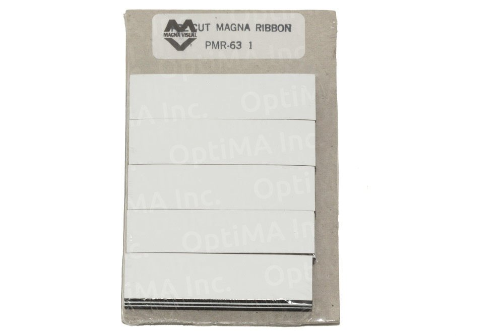 3/4'' x 3'' White Damp Erase Write On Wipe Off Colored Magnet Strips 25/Pkg