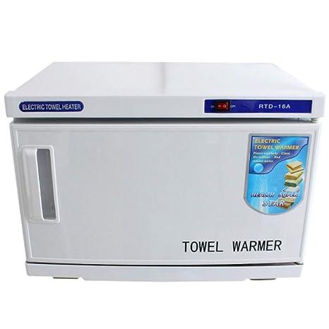 Esterilizadores Gabinete de toalla facial caliente UV de 16L, calentador de desinfección de esterilizador para herramienta para salón de belleza, ...