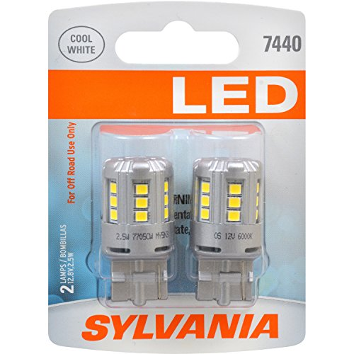 Amazon.com: SYLVANIA 7440 T20 White LED Bulb, (Contains 2 Bulbs): Automotive