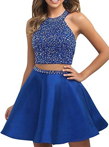 Abendkleider Promkleider Kleider Zwei Partykleider Blau La Mini Brau mia Festlichkleider Jugendweihe Cocktailkleider Kurzes Royal teilig xwqUYAw