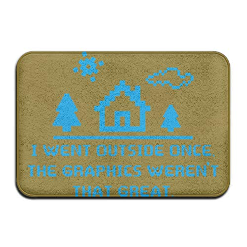 Frank Marner I Went Outside Once The Graphics Anti-skidding Bathroom Mats Trackion 23.6 by 15.7 Inches/40cm x 60 cm
