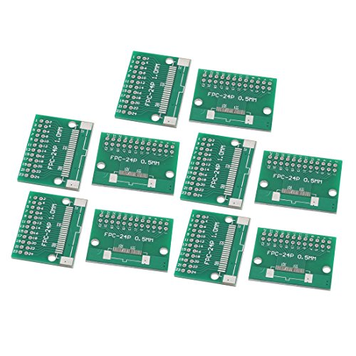 10Pcs FPC-24P Multiple Pitch 0.5mm/1.0mm TFT LCD Test FPC Adapter Board Green