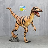 Life Size Velociraptor 10' (Jurassic Park) Statue Prop and Smart Sim Card Combo Purchase