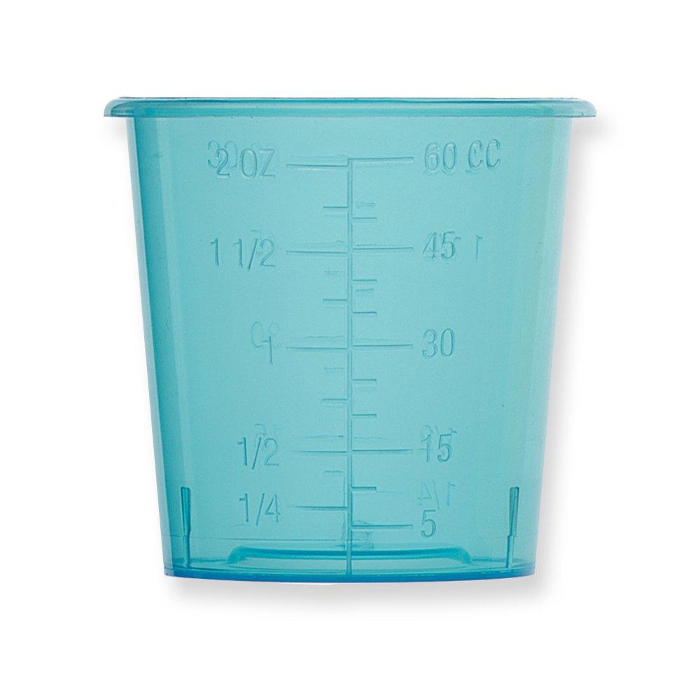 Qosina 73061 Blue Polypropylene Medicine Cup, 57.3gm Capacity (Pack of 25)