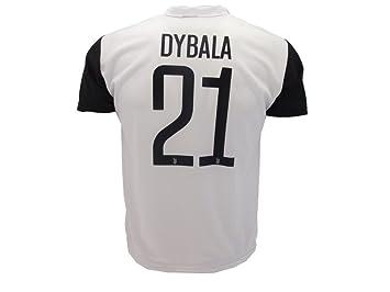 Camiseta de Fútbol Paulo Dybala 21 Juventus Temporada 2017-2018 Replica Oficial con Licencia - Todos Los Tamaños NIÑO y Adulto