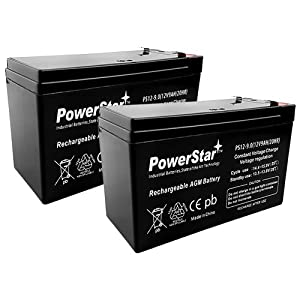 POWERSTAR PowerStar-2Pack-2 year Warranty 12V 9AH SLA Battery for Razor e200/e200s/e225/e300/e300s/e325