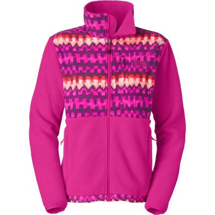The North Face Women Denali Fleece Jacket (Fuschia Pink Ikat Print, X-Small)