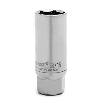 "Crescent 3/8"" Drive 6 Point 2-1/2"" Magnetic Swivel Spark Plug Socket 13/16"" - CSPS2N: Home Improvement"