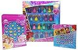 Disney Princess Peel-Off Nail Polish Gift Set Beauty Bundle for Kids - 3 items; 18 count Princess Nail Polish, Sticker Earrings, Jewelry Kit
