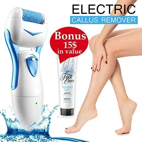 Make Your Feet Baby Soft With Electric Callus Remover Rechargeable Feet File Pedicure Tool Electronic Foot Care Professional Exfoliating Device Heel Grinder Foot Massager + European Foot Cream+E-Book