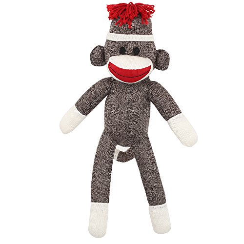 MaEd by Aliens ORIGINAL SOCK MONKEY STUFFED ANIMAL PLUSH KNITTED BOYS BABY DOLL PUPPET GIFT PRESENT 20'