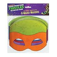Paper Teenage Mutant Ninja Turtles Masks, Assorted 8ct