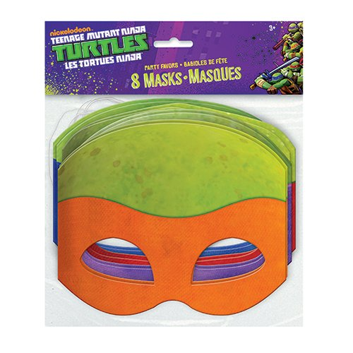 Paper Teenage Mutant Ninja Turtles Masks, Assorted 8ct (Ninja Turtle Party Mask)